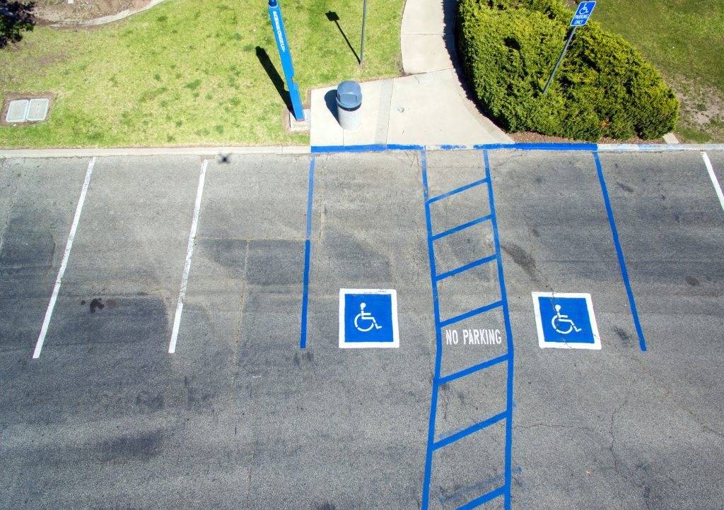 parking spots for people with handicap license plates